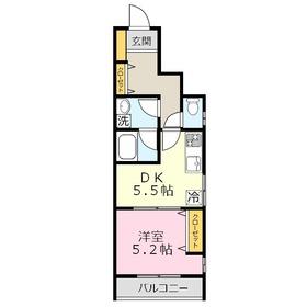 メゾン・ド・ユイモア1階Fの間取り画像