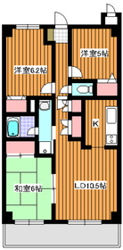 モンドミール和光6階Fの間取り画像