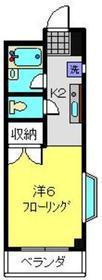 ハイツ嶋森2階Fの間取り画像