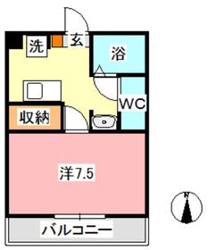 MSDハイツ2階Fの間取り画像