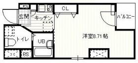 スプリーム月島22階Fの間取り画像