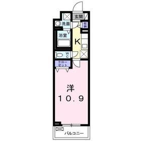 京王八王子駅 徒歩31分3階Fの間取り画像