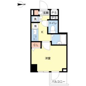 スカイコート菊川5階Fの間取り画像