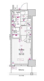 ガーラ新横浜グランドステージ6階Fの間取り画像
