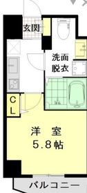 ザ・レジデンス横浜青木橋8階Fの間取り画像