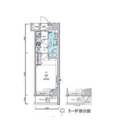 ジェノヴィア荻窪Ⅱスカイガーデン3階Fの間取り画像