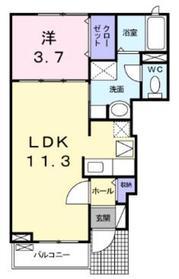 ソラーナ1階Fの間取り画像