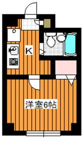 地下鉄成増駅 徒歩3分3階Fの間取り画像