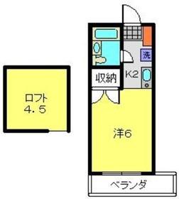 和田町駅 徒歩17分2階Fの間取り画像