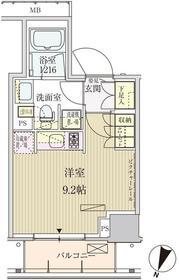 パークアクシス赤坂見附6階Fの間取り画像