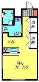 ヒルズT・K1階Fの間取り画像