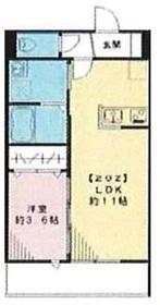 (仮称)エルメゾン皿沼2階Fの間取り画像