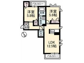 ラミメール2階Fの間取り画像