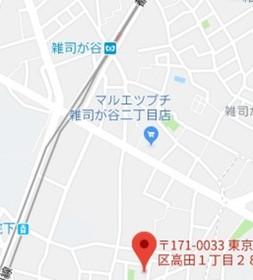 高田馬場駅 徒歩15分案内図