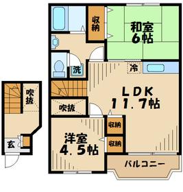 プレイン・ハウス2階Fの間取り画像