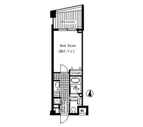 ベルファース三宿3階Fの間取り画像