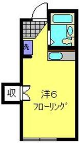 プチマロン2階Fの間取り画像