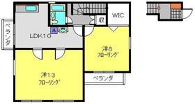 原田邸2階Fの間取り画像
