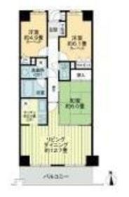 ライオンズガーデン横浜蒔田12階Fの間取り画像