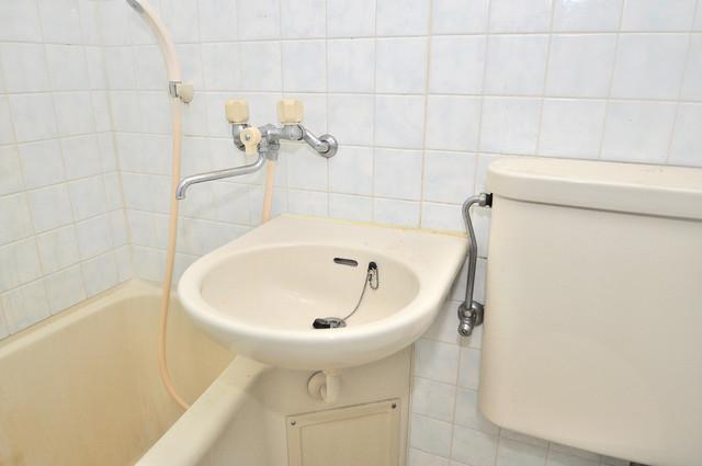 OMレジデンス八戸ノ里 小さいですが洗面台ありますよ