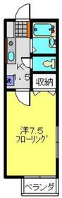 ジュネス峰沢A1階Fの間取り画像