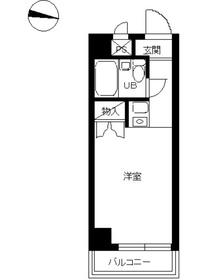 スカイコート西横浜4階Fの間取り画像