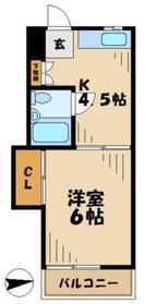小島ハイツ1号1階Fの間取り画像