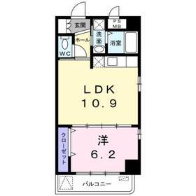 日吉駅 バス6分「一本橋」徒歩3分3階Fの間取り画像