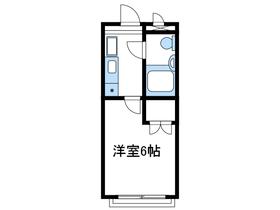 スカイコート相武台4階Fの間取り画像