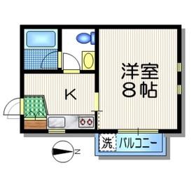 下北沢駅 徒歩8分1階Fの間取り画像