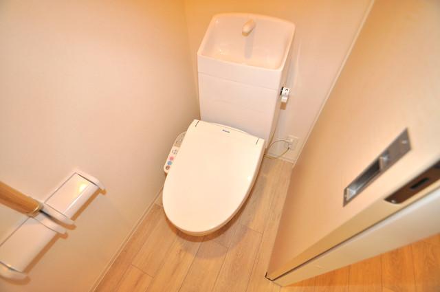 エイチ・ツーオー布施 清潔感たっぷりのトイレです。入るとホッとする、そんな空間。