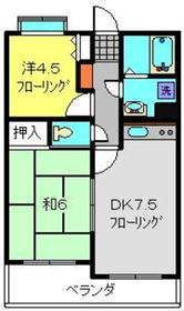 フェリックス新川崎2階Fの間取り画像