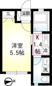 堀ノ内駅 徒歩8分01階Fの間取り画像