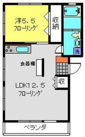 飯島マンション4階Fの間取り画像