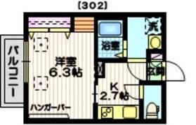 Haus1319N3階Fの間取り画像