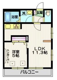 (仮称)東尾久3丁目メゾン2階Fの間取り画像