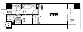 レジディア上野池之端11階Fの間取り画像