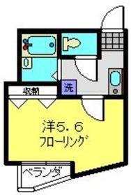 カーナYokohama1階Fの間取り画像