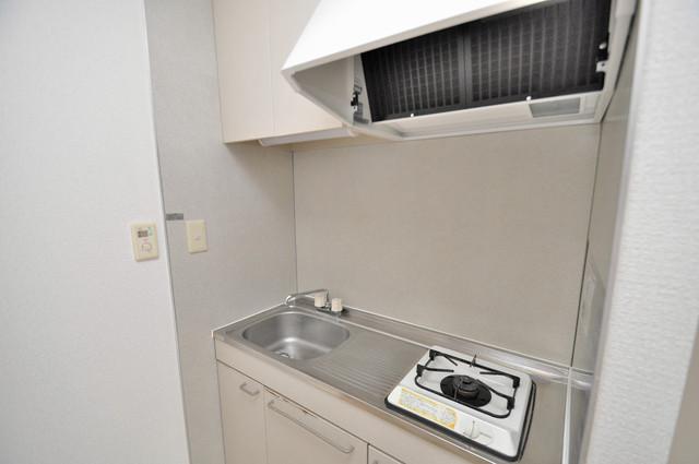 イワタハイツ 単身のお部屋には珍しい豪華なシステムキッチン完備です。