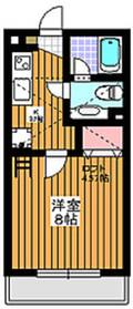 プラムアベニュー2階Fの間取り画像