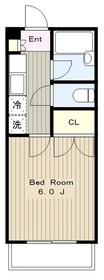 メゾンセントピア弐番館2階Fの間取り画像