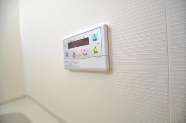 アミティタワー 給湯リモコン付。温度調整は指1本、いつでもお好みの温度です。