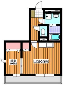 メゾンドシャルマン1階Fの間取り画像