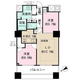 ザ・パークハウス西新宿タワー6014階Fの間取り画像