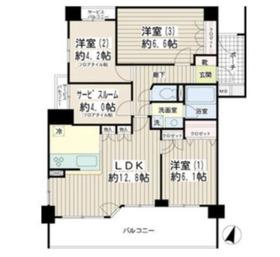ナイスアーバンステイツ横濱新子安1階Fの間取り画像