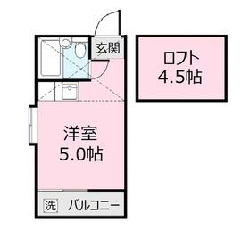 ガジェッタハウス1階Fの間取り画像