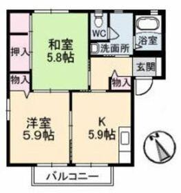 アバンサール A2階Fの間取り画像