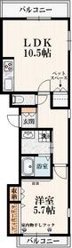 ふたばハウス3階Fの間取り画像