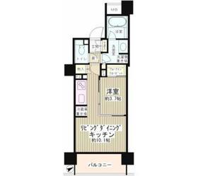 パークホームズ目黒リバーサウスアーバンレジデンス7階Fの間取り画像