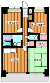 成増駅 徒歩8分6階Fの間取り画像